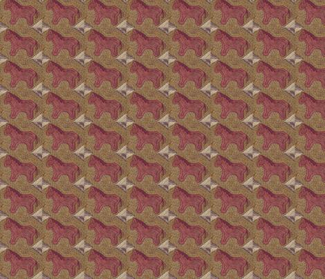 Plum Pony ©LLausen fabric by woolyredrug on Spoonflower - custom fabric