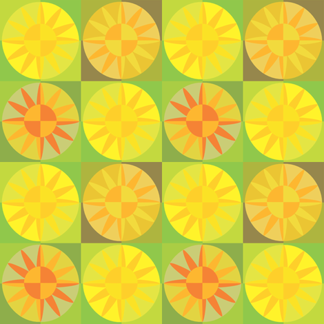 Sunflowergarden fabric by creative_cat on Spoonflower - custom fabric