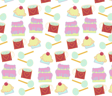Yummo~Delights fabric by garwooddesigns on Spoonflower - custom fabric