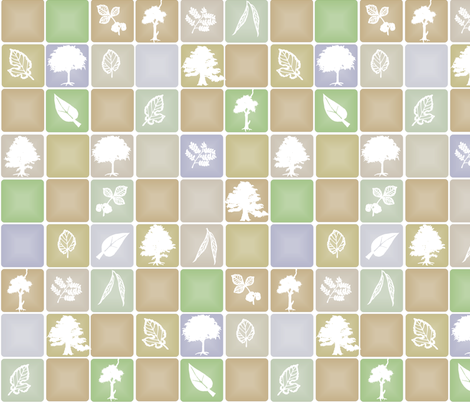 Tree and Leaf fabric by wiccked on Spoonflower - custom fabric