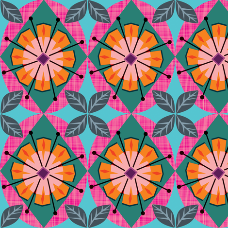 Happyflower fabric by bippidiiboppidii on Spoonflower - custom fabric