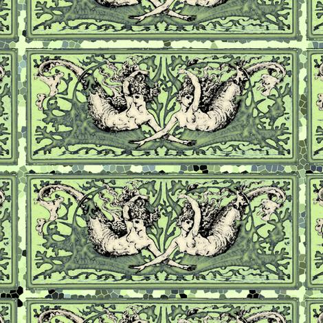 Twin Mermaids fabric by featheralchemist on Spoonflower - custom fabric