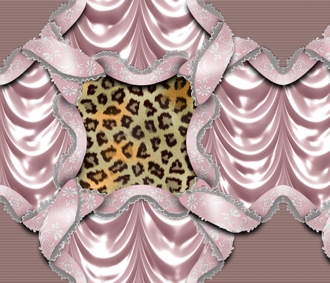 Leopards'n'Lace - Medaillon - Pink fabric by bonnie_phantasm on Spoonflower - custom fabric