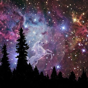 unicorn galaxy scene