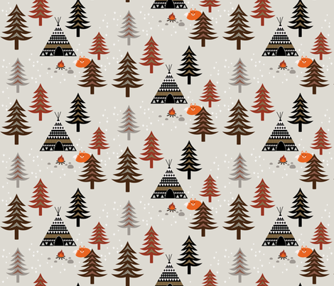 Tipi fabric by kimsa on Spoonflower - custom fabric