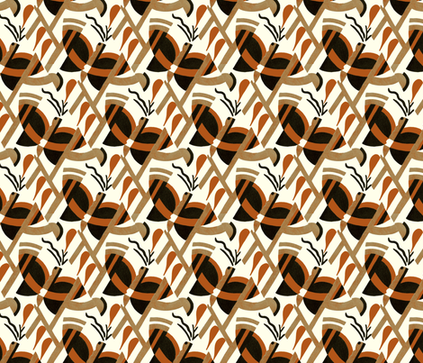 Art Deco butterfly (brown and gold) fabric by unseen_gallery_fabrics on Spoonflower - custom fabric