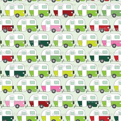 Colourful caravans