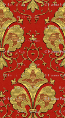 Regal red and gold