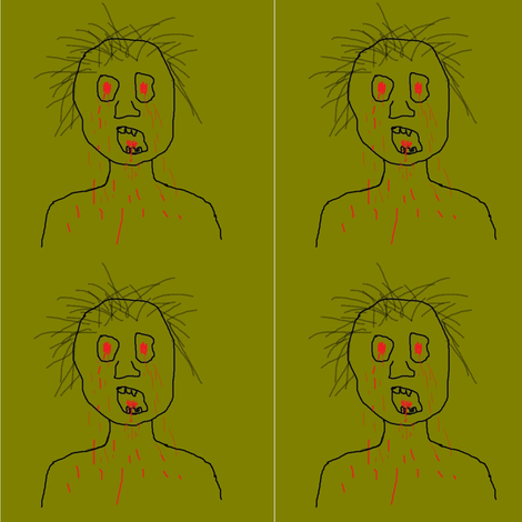 zombie fabric by spit_lube on Spoonflower - custom fabric
