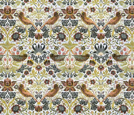 birds and berries fabric by unseen_gallery_fabrics on Spoonflower - custom fabric