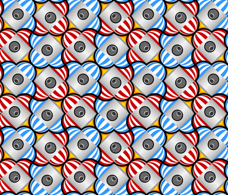 domed rocket 4 in 2 fabric by sef on Spoonflower - custom fabric