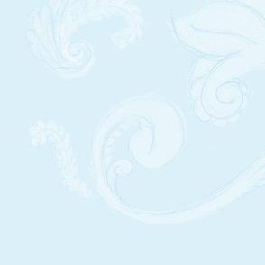 Floral sketchy - Light Blue