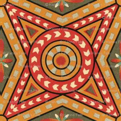 Medieval geometric cover