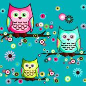 Pretty Little Owl in Teal