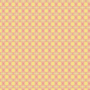 peach yellow pansy plaid