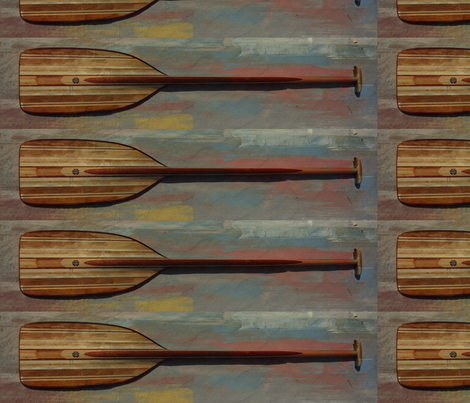Fritz Orr Wooden Paddles fabric by missyorr on Spoonflower - custom fabric