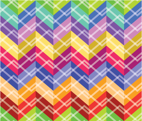 Zigzag Cheater Quilt fabric by mawaridi on Spoonflower - custom fabric