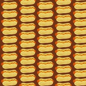 Hot Dog on a Bun-brown