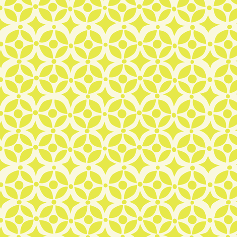 Nesting Geometric Yellow fabric by bzbdesigner on Spoonflower - custom fabric