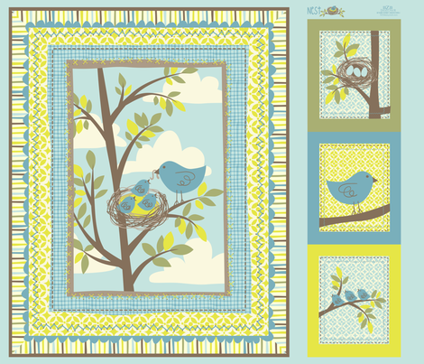 NESTING Quilt fabric by bzbdesigner on Spoonflower - custom fabric