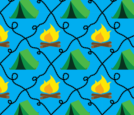 Camping fabric by mawaridi on Spoonflower - custom fabric