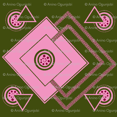 geometric_intricate_green,pink, fuschia