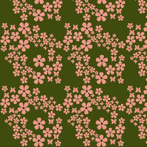 swiss_dots_floral-peach and navy green