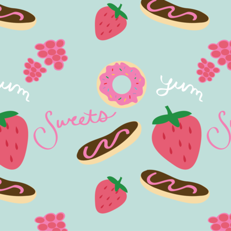 Sweets fabric by ellolovey on Spoonflower - custom fabric