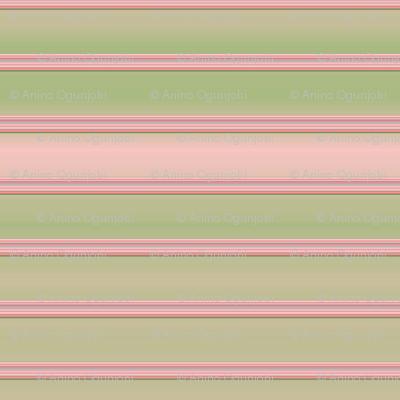 daisy_ stripe - green, pink, peach