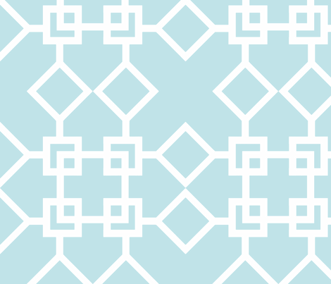 Climb the Trellis Aqua Reverse fabric by honey&fitz on Spoonflower - custom fabric