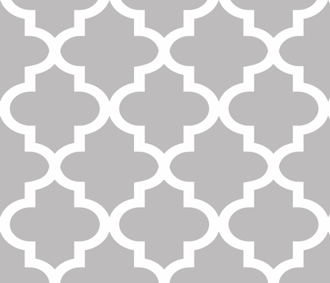 Quatrefoil Chinchilla fabric by honey&fitz on Spoonflower - custom fabric