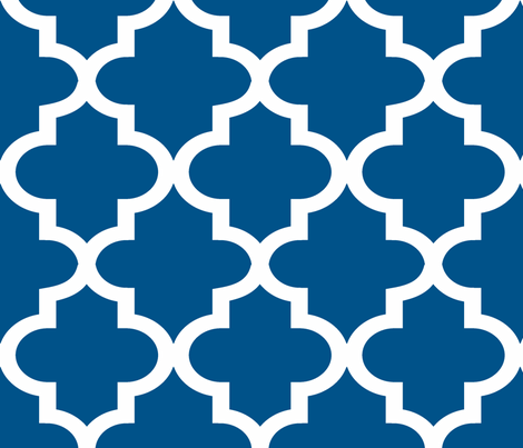 Quatrefoil Navy fabric by honey&fitz on Spoonflower - custom fabric