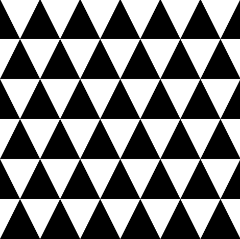 Black & White Triangles Small fabric by pencilmein on Spoonflower - custom fabric