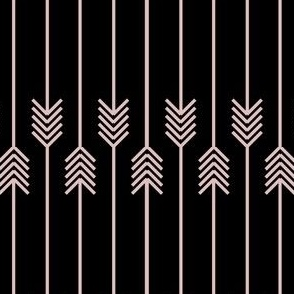 pink flip flop arrows on black