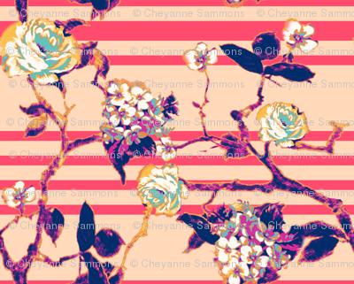 rose stripe - fuchsia