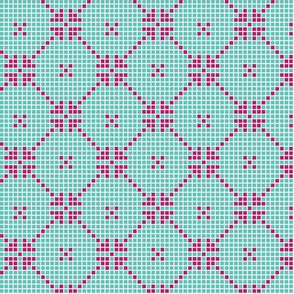 lace squares - fuchsia