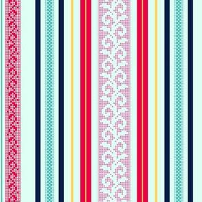 folk stripe - fuchsia