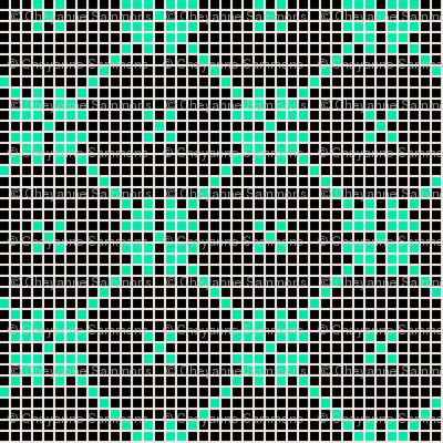 lace squares - black