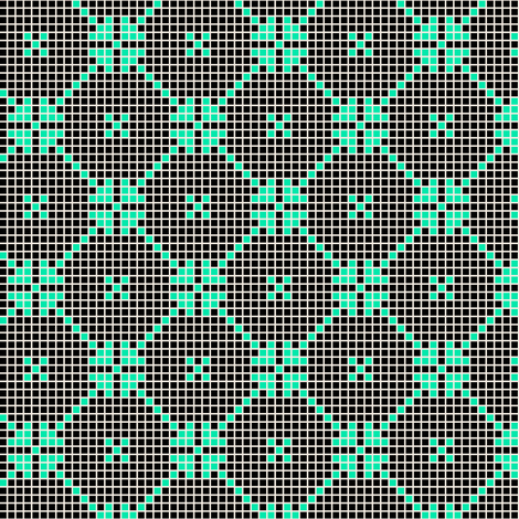 lace squares - black fabric by cheyanne_sammons on Spoonflower - custom fabric