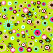 Pretty Flowers in Green