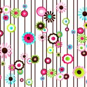 Pretty Flowers in Line