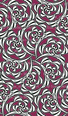 Fiddlehead Swirl  -red