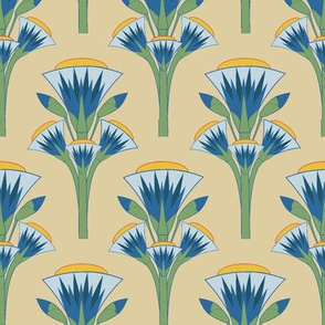 Ancient egypt flowers 4 designs by thewindowway blue lotus mightylinksfo