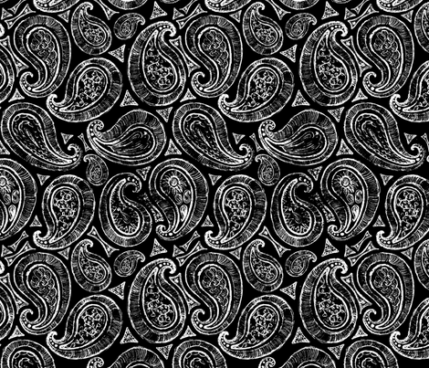 Black_and_White_Paisley fabric by european-skies on Spoonflower - custom fabric