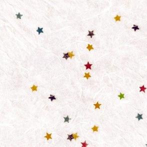 Star confetti paper