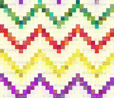 Rainbow Gradient Cheater Quilt