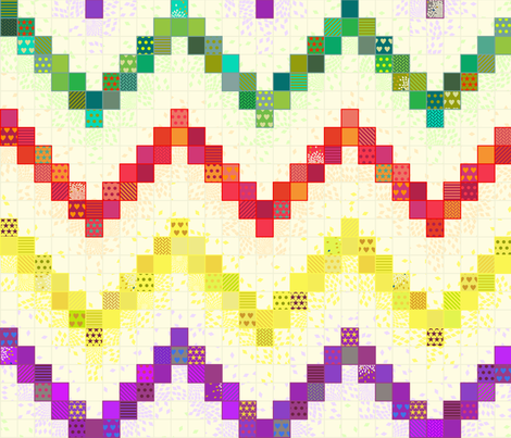 Rainbow Gradient Cheater Quilt fabric by candyjoyce on Spoonflower - custom fabric