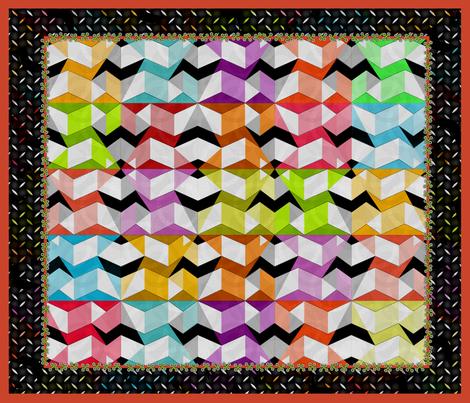 Stumbling Blocks FQ fabric by glimmericks on Spoonflower - custom fabric