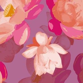 lotus blooms - parma violet