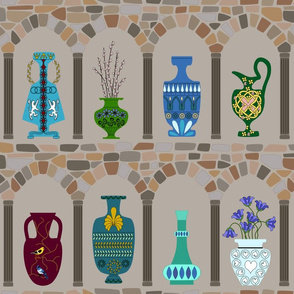 Vase and Urns